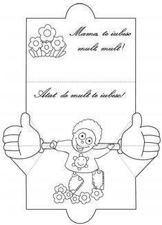 Grandparents Day Crafts, 8 Martie, Mickey Party, Art School, Coloring Pages, Mothers, Crafts For Kids, Projects To Try, Creations