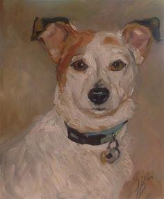 "Daily Paintworks - ""Portrait of Lulu"" - Original Fine Art for Sale - © Annette Balesteri"