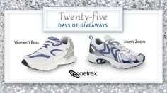 Our day 17 giveaway is from Aetrex!  Give your feet the cushioning they need in a running shoe. Enter to win an Aetrex running shoe here. #25DaysofGiveaways