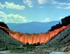 My absolute all-time fav of Christo and Jeanne-Claude's... Valley Curtain