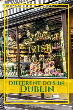 Dublin different do's - there is so much to do in Dublin and these 21 options will give you some different ideas about what to see and where to go.