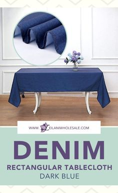 Let this dark blue denim rectangular tablecloth transform your tables in an instant! The vibrant pop of rich blue color will be the perfect addition to your candy buffets or dessert tables. #tablecloths #tablesetting Banquet Tables, Reception Table, Dining Decor, Dessert Tables, Buffets, Tablecloths, Table Linens, Event Decor, Blue Denim