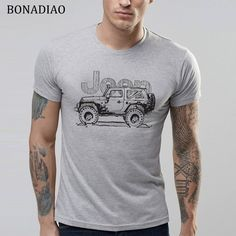 Quality retro jeep shirt with free worldwide shipping on AliExpress Jeep Shirts, Design T Shirt, Gamer T Shirt, Denim Shirt Men, Plus Size T Shirts, Summer Tshirts, Retro Dress, Casual Fall, Mens Tees