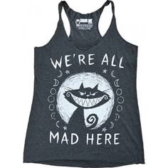 Akumu Ink - We're All Mad Here Loose Tank Top Ladies