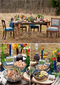 Ok, yes, a Hunger Games themed wedding is over the top, but you have to admit that elements of that table are breathtaking!