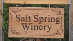a CNC routed sign for local winery.