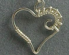 Popular items for wire wrapped heart on Etsy