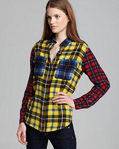 Equipment Shirt - Rampart Plaid Signature Contrast   Bloomingdale's