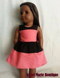 Dress for 18 inch Dolls such as American Girl and My Life As