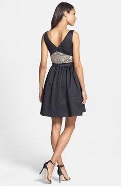 ERIN erin fetherston Bow Detail Jacquard Fit & Flare Dress | Nordstrom