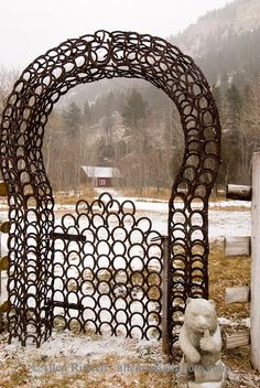 Horseshoe gate, cabin, aspen grove, Paradise Valley, south of Livingston, Montana, PROPERTY RELEASED