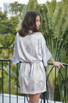 Stunning satin kimono robe adorned in beautiful delicate floral designs, it is lightweight providing luxuriously silky comfort on your skin. Romantic Honeymoon, Girls Weekend, Kimono Fashion, Floral Design, Delicate, Forget, Beautiful, Collection, Style