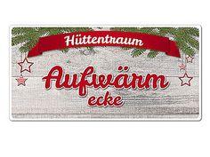Hüttentraum - Schild mit Wunschtext