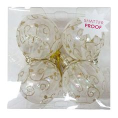 Picture of Fabric Covered Ornaments- Set of 4