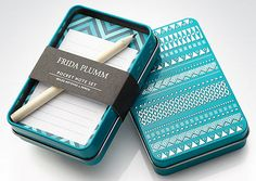 Great idea for upcycling an altoids tin. They sell half-size pens too, would be great to stick one in there.