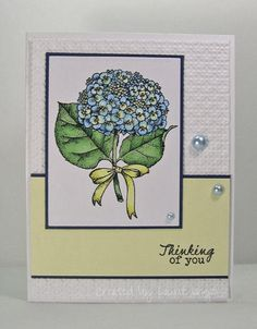 Laurie's Stampin Place: FMS #122 - Hydrangea