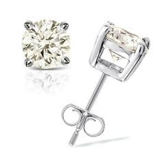 1/3 cttw Round Diamond 4-Prong Stud Earrings Platinum (I-J Color, I1-I2 Clarity) Banvari. $468.50. This product comes with a FREE Luxurious Cherrywood Gift Box.. All diamonds used in our jewelry are conflict free and 100% in compliance with the Kimberly Code of Conduct.. Free Priority Shipping and 30-day money back guarantee.. All our gold items are responsibly sourced and the majority is made from environmentally processed recycled gold.. Made in USA, comes wit...