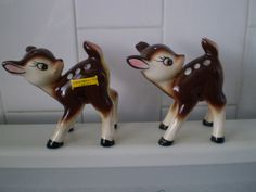 Adorable Vintage Deer Salt and pepper shakers Souvenir by Bizzard, $25.00