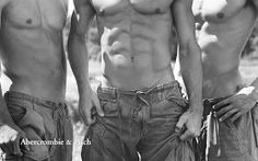 Th image of these male models puts pressure on the perception of man, as well as portraying who is suitable to wear Abercrombie and Fitch clothing.