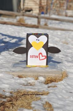 penguin valentine box perfect for my penguin lovin' kid.