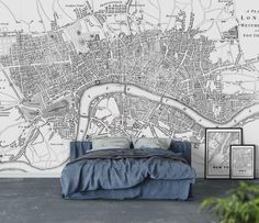London Map Tapet