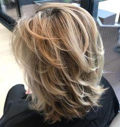 50 Mesmerizing Medium-Length Layered Haircuts for 2020 Layered Haircuts Shoulder Length, Medium Length Hair Cuts With Layers, Medium Hair Cuts, Shoulder Length With Layers, Layered Haircuts For Medium Hair Choppy, Cute Medium Length Haircuts, Chin Length Haircuts, Choppy Layers, Haircut For Thick Hair