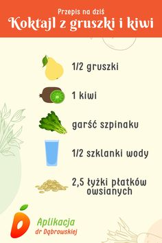 Smoothie Recipes, Smoothies, Detox Drinks, Kiwi, Healthy Lifestyle, Food And Drink, Health Fitness, Meals, Cooking