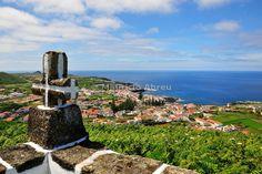 Santa Cruz, the main town of the island. Graciosa, Azores islands, Portugal