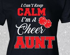 Image result for cheer aunt t shirts Cheer Mom Shirts, Cheerleading Shirts, Aunt T Shirts, Cute Shirts, Football Cheer, Football Tops, Cheer Mom Quotes, Cheer Moves, Cheer Gifts