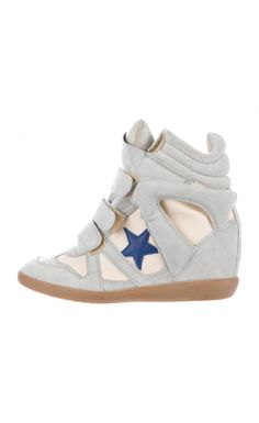 Isabel Marant Suede-Canvas Bayley Sneakers White - Isabel Marant