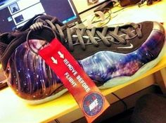 Penny goes to the planetarium on the Nike Air Foamposite One