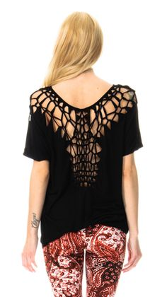 Crocheted Tee shirt - this is perfect for tossing on with some shorts over a bikini.