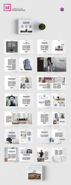 Annual Report Template InDesign INDD A4 annual reports - company report template