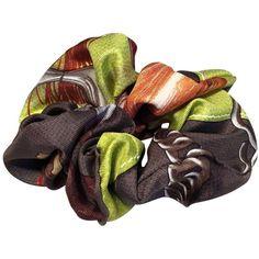 Hermès Handmade Vintage Silk Scrunchie Lenço Cinza Escuro, Verde  #cinza #escuro #handmade #hermes #lenço #scrunchie #Silk #verde #vintage