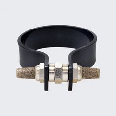 Black Lava Nut Cuff by Cooee
