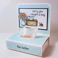 2 Packs of Paper Pocket Tissues Amy and Lucy