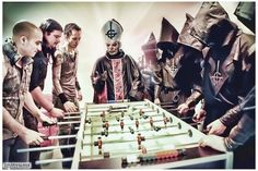 Trivium playing Foosball with Ghost