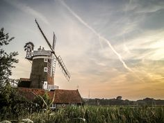 This Photograph of the Norfolk Coasts Iconic Cley Windmill was taken on a fine August Evening from the Coastal Path Cley-next-the-Sea. Our Fabulous Norfolk. Prints available to buy online.