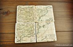 Travel the world with these map coasters.