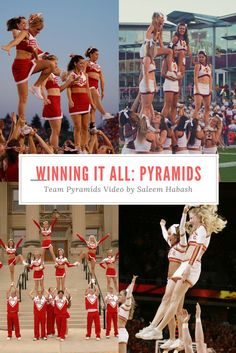 $24.99 11 Pyramids taught in this staff favorite video! #stunt #cheerleading  Cheer coaching. Coach videos for teaching cheer squad pyramids.