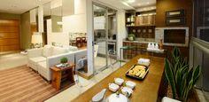 salas com varanda gourmet para apartamento amplos