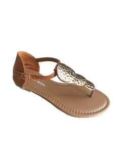 Brown 3-coin sandal – 4hearts