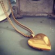 Hultquist Classic Long Gold Plated Heart Locket Necklace with Crystals | lizzielane.co.uk. http://www.lizzielane.co.uk/shop/hultquist-classic-long-gold-plated-heart-necklace-with-crystals £33