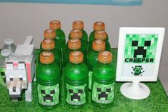 Drinks at a Minecraft Party #minecraft #partydrinks I'm definitely going to have a random Minecraft party one day.