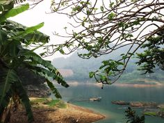 View from the homesta, to the Hoa Binh reservoir riverside.