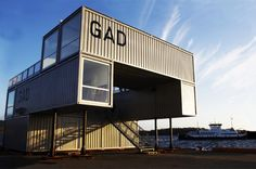 shipping container art gallery  by MMW architects