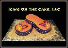 Flip flop birthday cake!  www.facebook.com/icingonthecake1