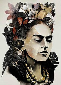 alexey kurbatov - portrait art - frida kahlo