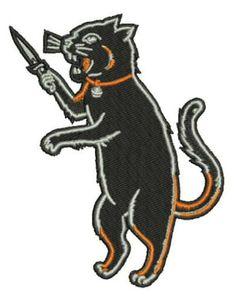 Black-Cat-Fink-Iron-On-Patch-Kustom-Kulture-Something-Weird-rat-Odd-Oddity-Freak