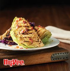 Those are grill marks you see on that wedge of cabbage. Cabbage with Bacon-Mustard Dressing is a twist on the classic wedge salad.